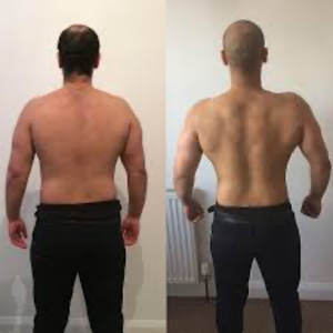 Weight loss results for men