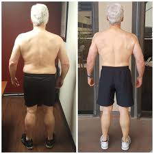 Mature man weight loss and body transformation